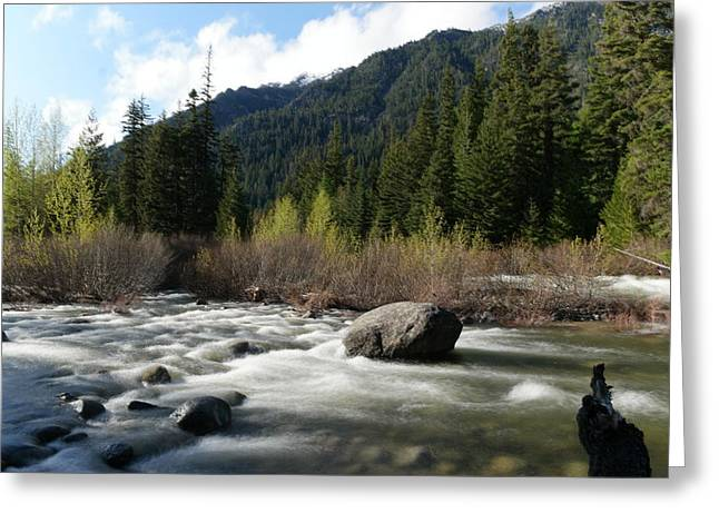 Icicle River Leavenworth Washington Greeting Card by Jeff Swan