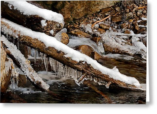 Icicles Greeting Card by Nicholas Blackwell