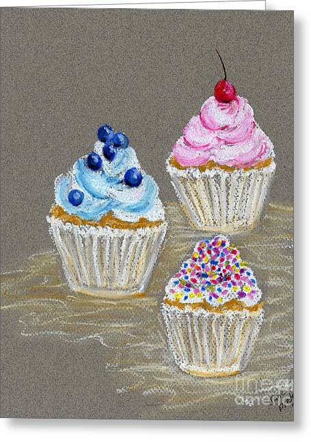 Blueberry Drawings Greeting Cards - Icing Delight  Greeting Card by Jane Pietrofitta