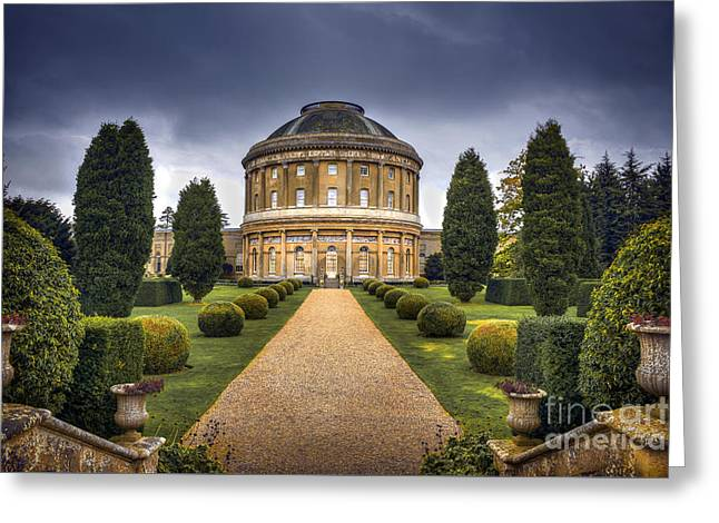 Garden Scene Mixed Media Greeting Cards - Ickworth House Greeting Card by Svetlana Sewell