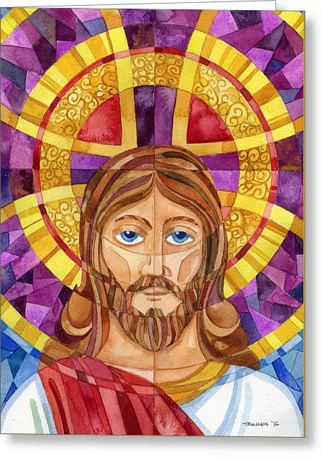 iconic Jesus Greeting Card by Mark Jennings