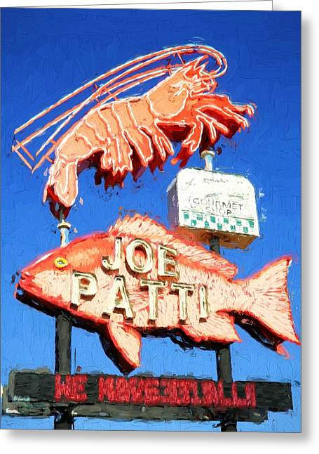 Iconic Joe Patti Seafood Greeting Card by JC Findley