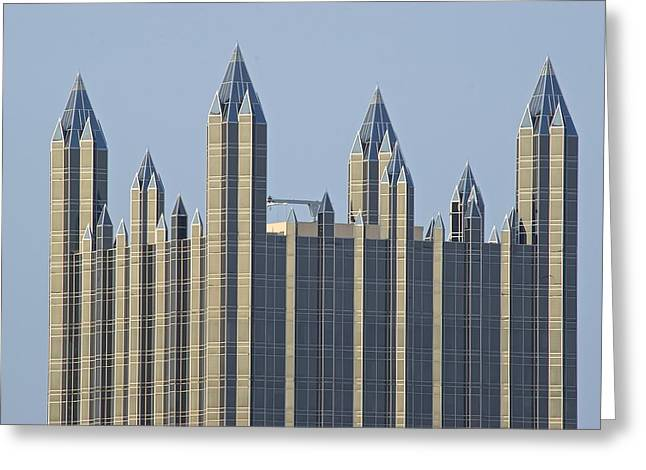 Upmc Greeting Cards - Iconic Pittsburgh Rooftop Greeting Card by Frozen in Time Fine Art Photography