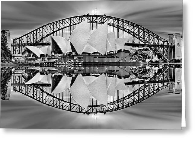 Iconic Reflections Greeting Card by Az Jackson