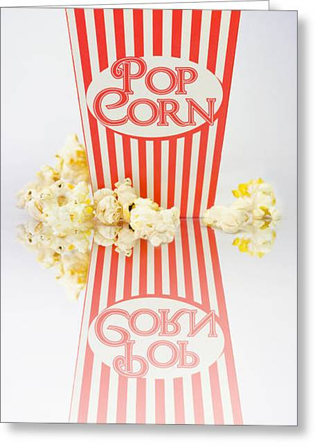 Iconic Striped Popcorn Carton Greeting Card by Jorgo Photography - Wall Art Gallery