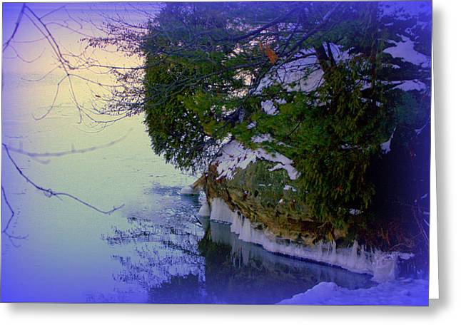 Icy Pastels Greeting Cards - Icy Shore Greeting Card by Desiree Gatza
