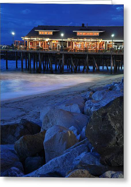 Recently Sold -  - Beach At Night Greeting Cards - Icy Waters Greeting Card by Matt MacMillan