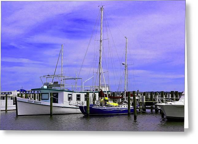 Docked Sailboats Greeting Cards - I Would Rather Be Sailing Greeting Card by Kathy K McClellan