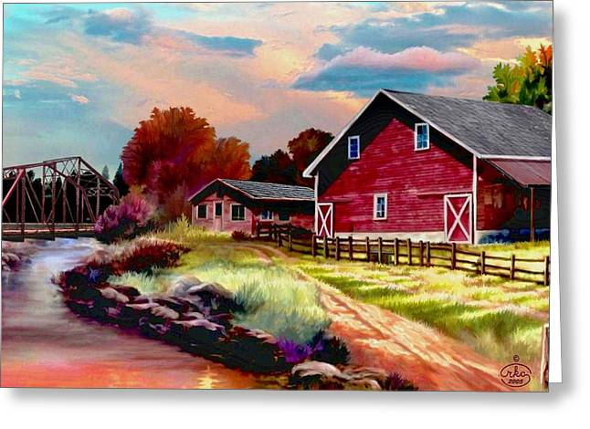 Wagon In A Barn Greeting Cards - Idaho Homestead Greeting Card by Ronald Chambers