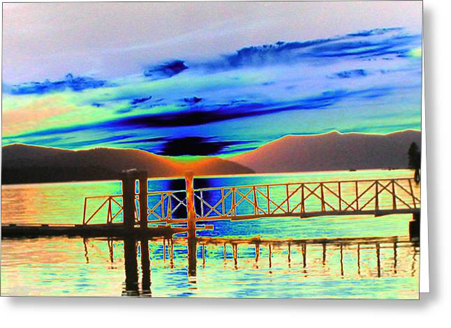 Sandpoint Greeting Cards - Idaho Lake Greeting Card by Peter  McIntosh