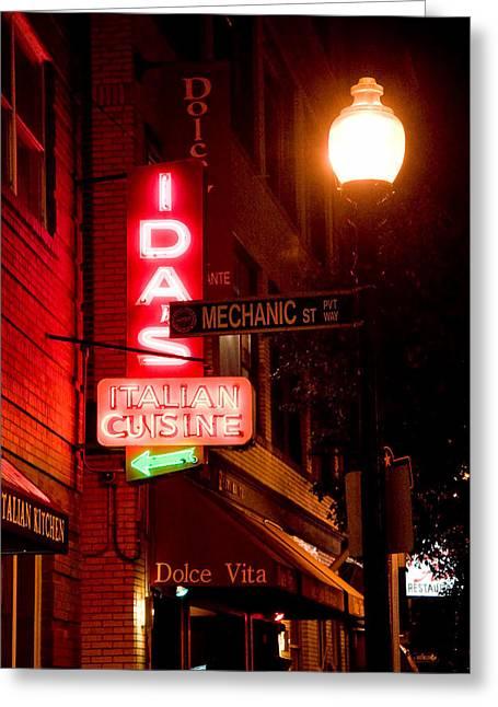 Boston North End Greeting Cards - Idas Greeting Card by Joann Vitali