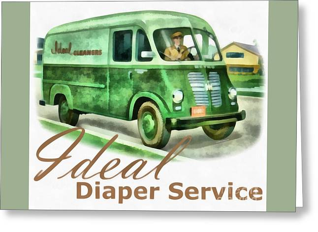 Ideal Diaper Service Painting Greeting Card by Edward Fielding