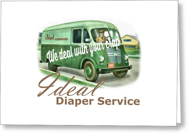 Ideal Diaper Service Tee Greeting Card by Edward Fielding