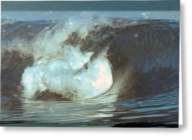 Stir Mixed Media Greeting Cards - Ideal Surf Waves photography and digital transformation Greeting Card by Navin Joshi