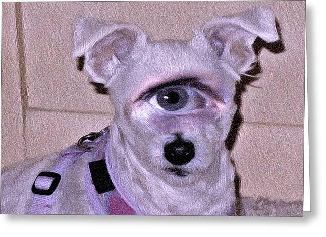 Dogs Digital Greeting Cards - Identity Crisis Greeting Card by Lynda Lehmann