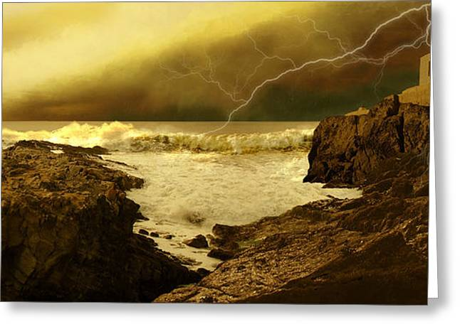 Lightning Bolt Pictures Digital Art Greeting Cards - Ides Of March Greeting Card by Corey Ford