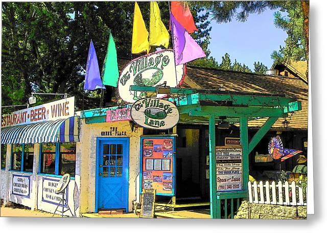Idyllwild Greeting Cards - Idyllwild Village Lane 113 Greeting Card by Lisa Dunn