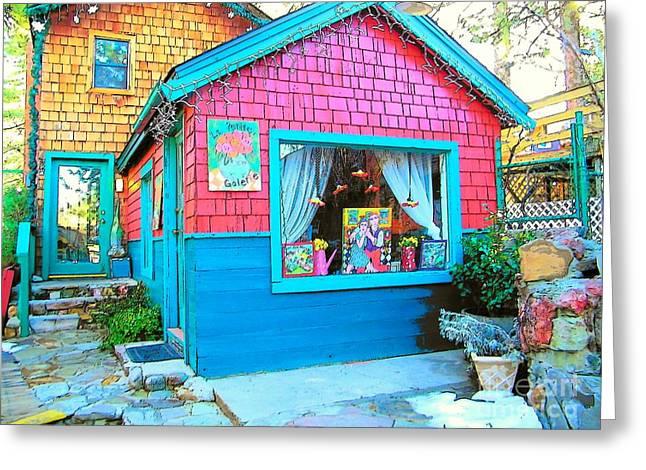 Idyllwild Greeting Cards - Idyllwild Village Lane 538 Greeting Card by Lisa Dunn