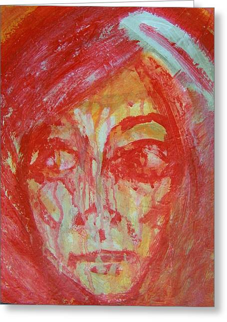 Weeping Greeting Cards - If Justice is Blind-Why Does Liberty Weep Greeting Card by Judith Redman