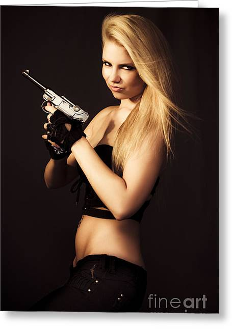If Looks Could Kill Greeting Card by Jorgo Photography - Wall Art Gallery