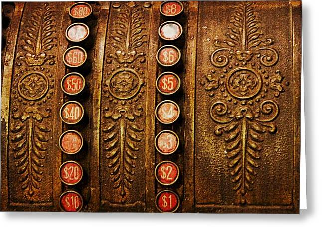 Old Cash Register Keys Greeting Cards - If These Keys Could Talk Greeting Card by Kathy Barney