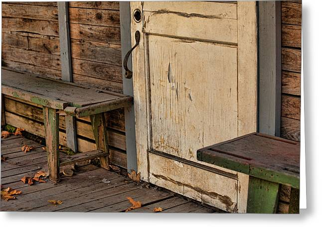 Old Door Print Greeting Cards - If This Porch Could Talk Greeting Card by Bonnie Bruno