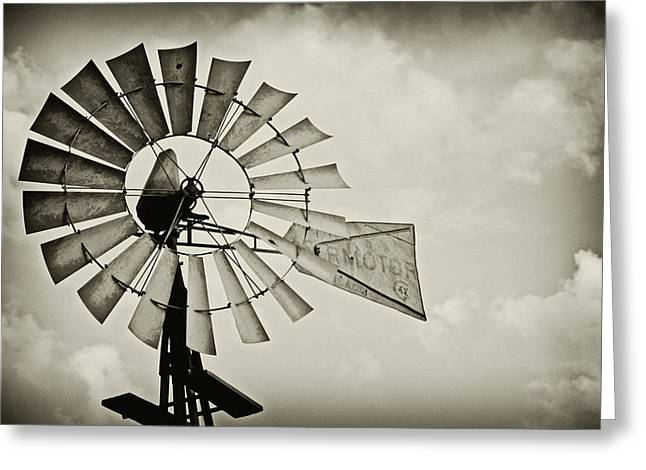 Southwest Oklahoma Greeting Cards - If Windmills Could Talk Greeting Card by Tony Grider