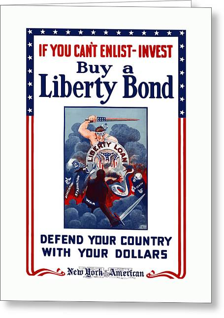 War Propaganda Greeting Cards - If You Cant Enlist Invest Greeting Card by War Is Hell Store