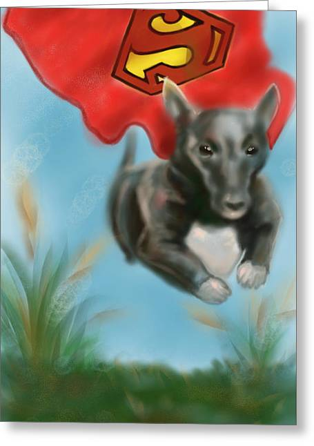 Puppy Digital Art Greeting Cards - If you ever need help just call my name Greeting Card by Siriporn Wachter