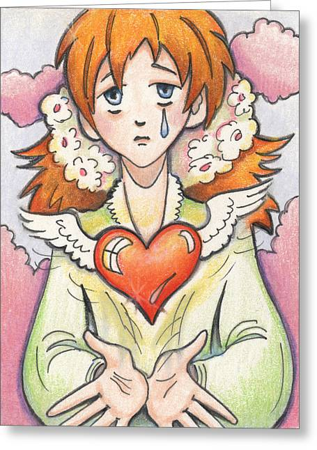 Crying Drawings Greeting Cards - If You Love Someone Set Them Free Greeting Card by Amy S Turner