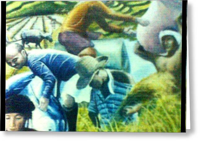 Farming Pastels Greeting Cards - Ifugao Greeting Card by Mark  Mabuna