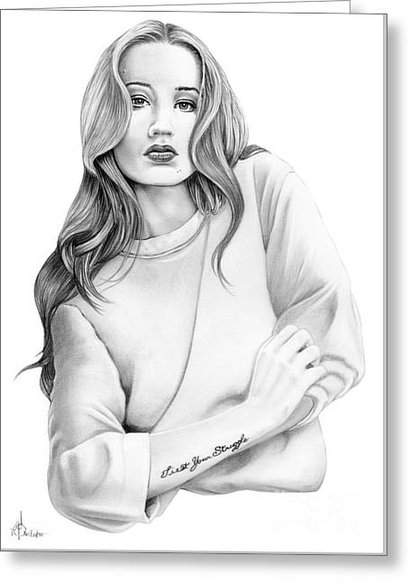 Iggy Azalea Greeting Card by Murphy Elliott