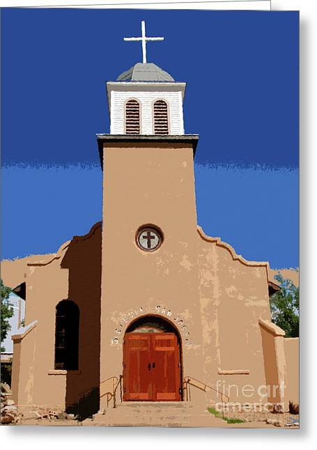 Adobe Digital Greeting Cards - Iglesia San Jose 1922 Greeting Card by David Lee Thompson