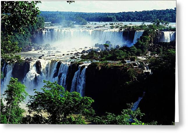 Iguacu Waterfalls Greeting Card by Juergen Weiss