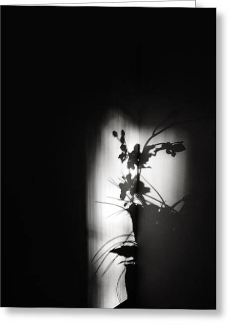 Ikebana Noir Greeting Card by Nick Young
