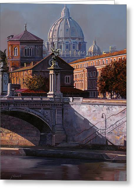 City Scenes Paintings Greeting Cards - Il Cupolone Greeting Card by Guido Borelli