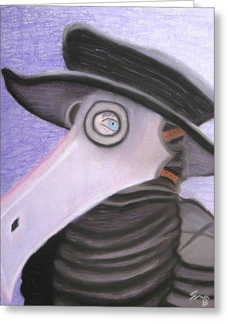 Middle Ages Pastels Greeting Cards - Il Dottore Greeting Card by Shawn Ballard