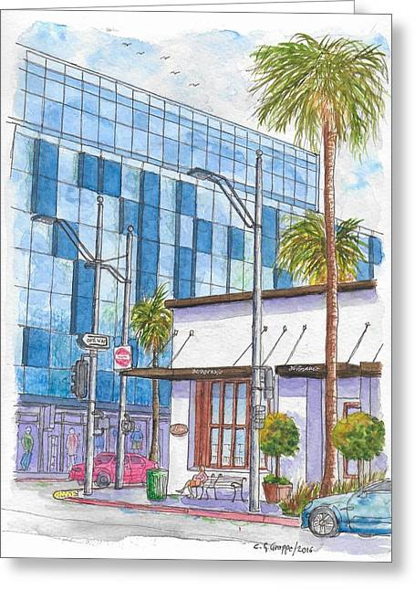 Il Fornaio In Beverly Hills, California Greeting Card by Carlos G Groppa