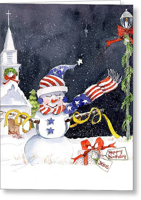 Patriotism Paintings Greeting Cards - Ill Be Home Greeting Card by Suzy Pal Powell