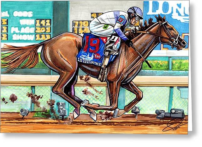 Belmont Stakes Greeting Cards - Ill Have Another Greeting Card by Dave Olsen