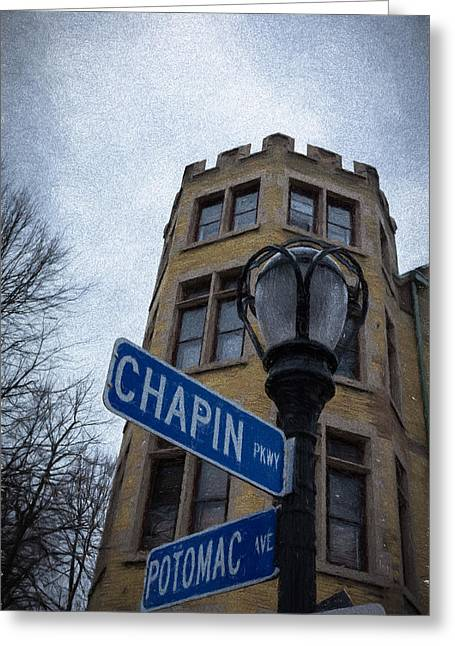 Residential Structure Greeting Cards - Ill Meet You at Chapin and Potomac Greeting Card by Guy Whiteley