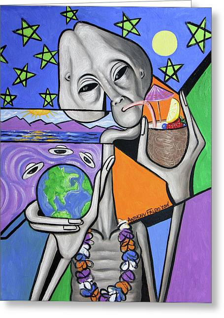 Illegal Alien Anthony Falbo Greeting Card by Anthony Falbo