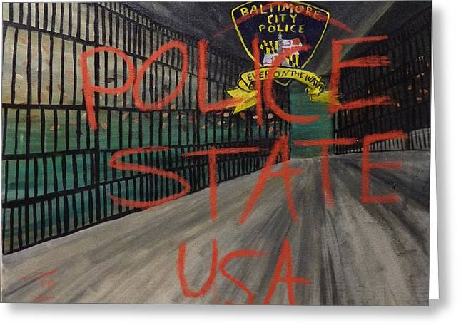 Illegal Detention Greeting Card by Phoenix Rising