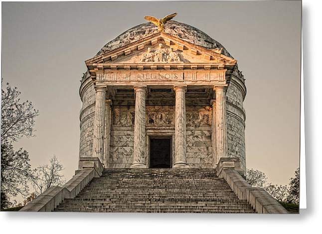 Illinois Memorial Sunset - Vicksburg Greeting Card by Stephen Stookey