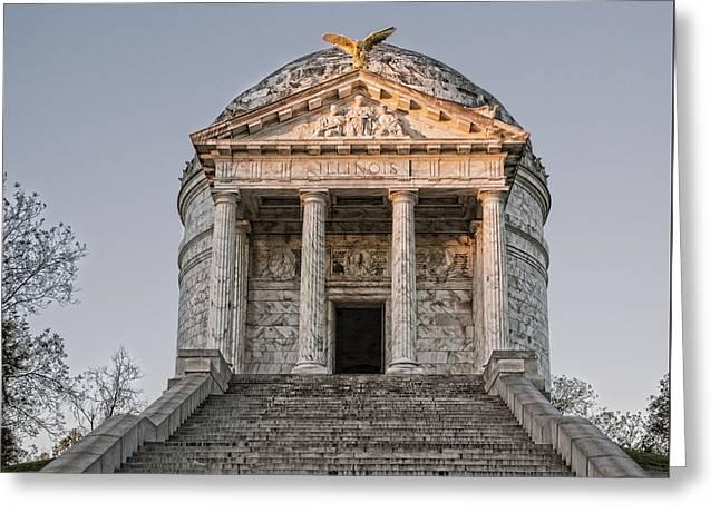 Illinois Memorial - Vicksburg Greeting Card by Stephen Stookey