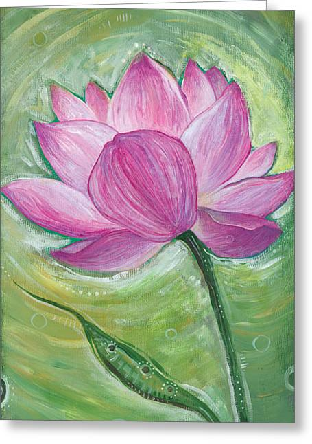 Illuminate Paintings Greeting Cards - Illuminate Greeting Card by Tanielle Childers