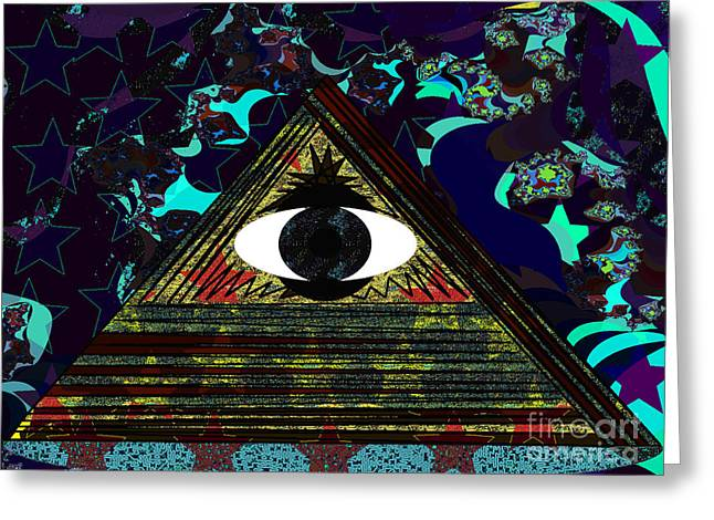 Horus Greeting Cards - Illuminated Greeting Card by Andrew Kaupe
