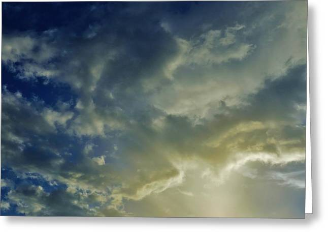 Colorful Cloud Formations Greeting Cards - Illuminated Sky Greeting Card by Mario Carta