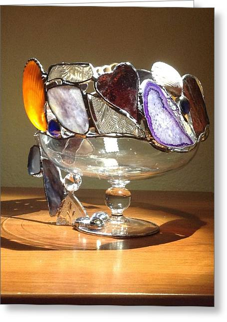 Cocktails Glass Art Greeting Cards - Purple Passion CA42 Greeting Card by Nora Solomon