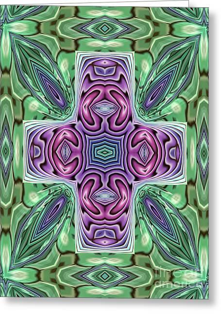 Abstract Shapes Greeting Cards - Illuminatus Greeting Card by John Edwards